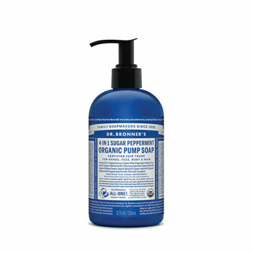 Dr. Bronner's Organic Pump Soap (Sugar 4-in-1) Peppermint 355ml