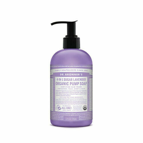 Dr. Bronner's Organic Pump Soap (Sugar 4-in-1) Lavender 355ml
