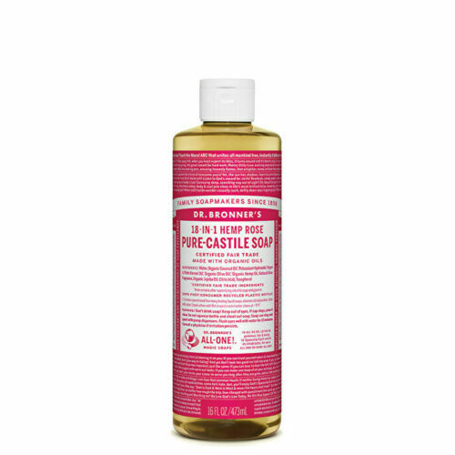 Dr. Bronner's Pure-Castile Soap Liquid (Hemp 18-in-1) Rose 473ml