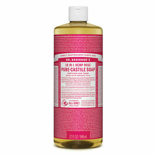 Dr. Bronner's Pure-Castile Soap Liquid (Hemp 18-in-1) Rose 946ml