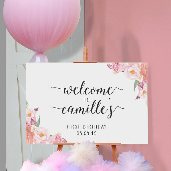 Floral Birthday Sign {customisable}