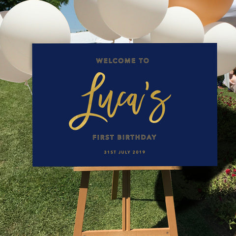 Navy Birthday Sign {customisable}