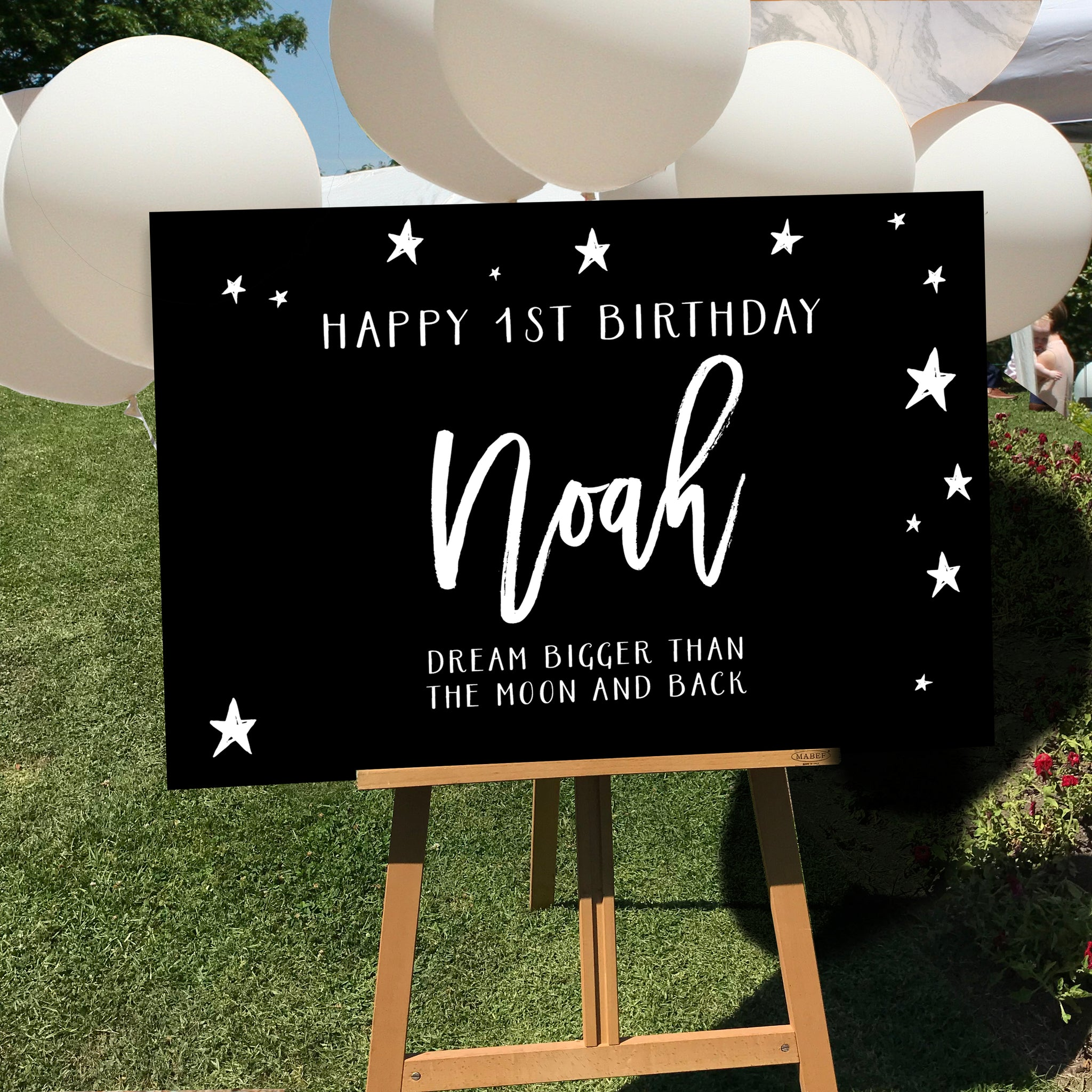 Chalkboard look Birthday Sign {customisable}