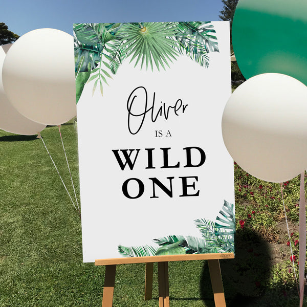 Wild One Birthday Sign {customisable}