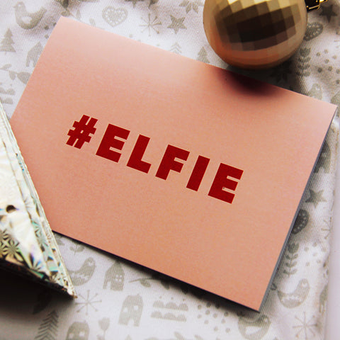 #Elfie Christmas Card