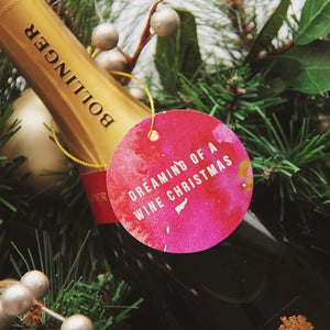 Wine Christmas Christmas Tag 5 PACK