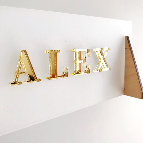 Acrylic Desk Name Plaque {personalised}