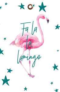 5PK FLAMINGO CHRISTMAS TAGS