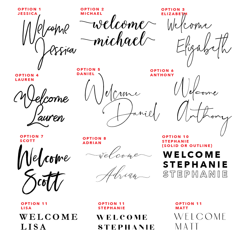 Minimalist Welcome Sign 60x90cm {customisable}