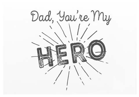 Dad You're My Hero Greeting Card - Danger & Moon