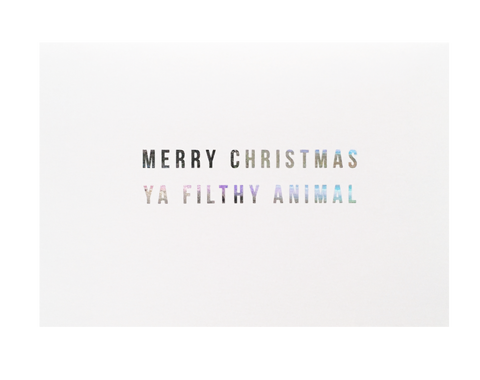 Ya Filthy Animal Christmas Card - Danger & Moon