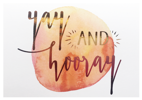 Yay and Hooray Greeting Card - Danger & Moon