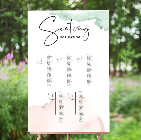 Ink Splash Seating Chart 60x90cm - TABLE LISTING {customisable}