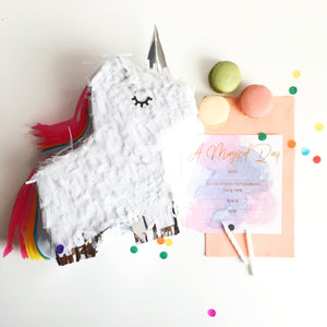Write-on Magical Watercolour Invitation Set with Foil Pk 10