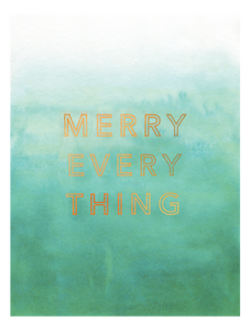 MERRY EVERYTHING CHRISTMAS CARD
