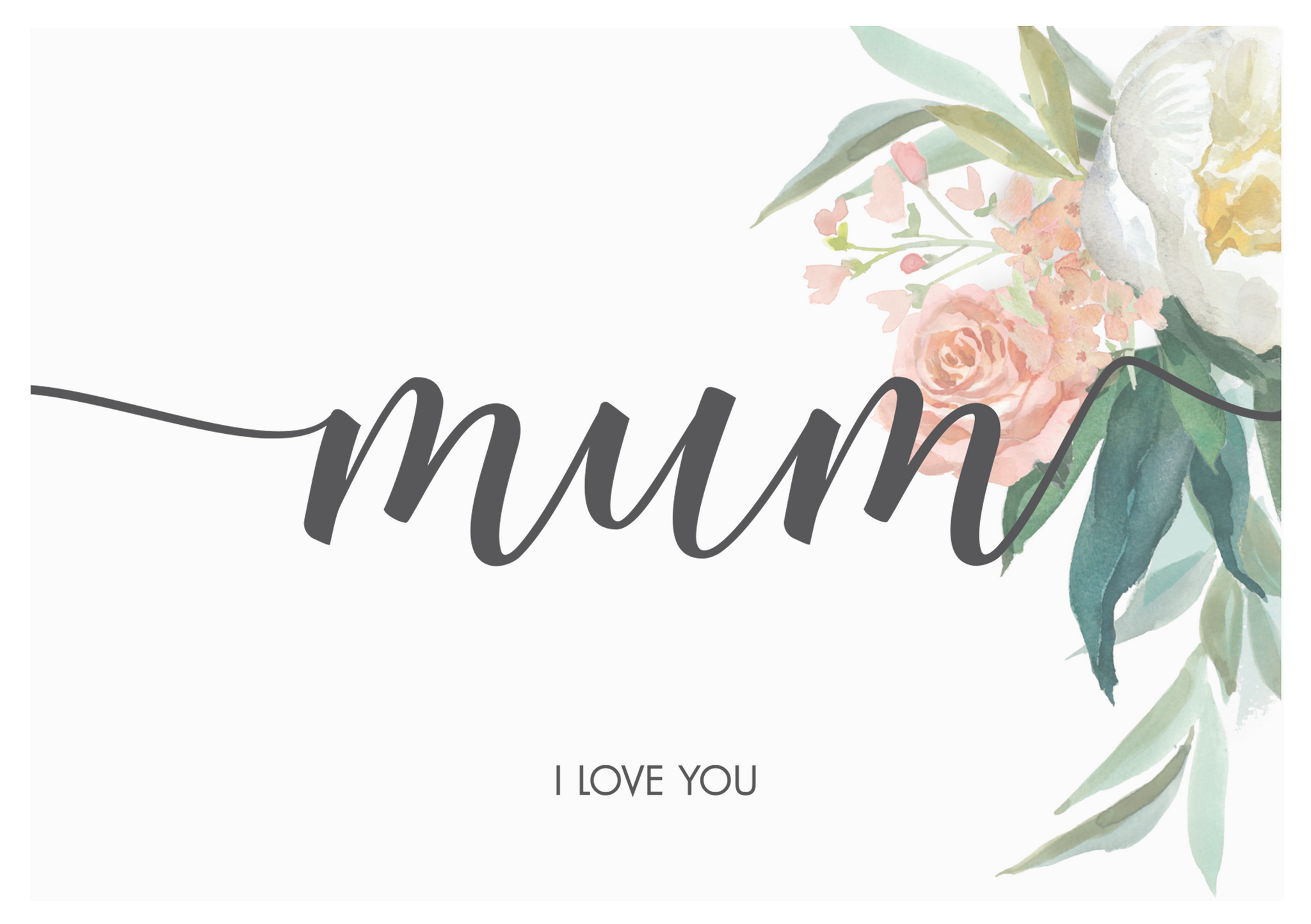 Mum Floral Greeting card