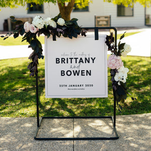 Square Welcome Sign 80x80cm {customisable}