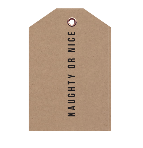 Naughty or Nice Christmas Tag 5 PACK - Danger & Moon