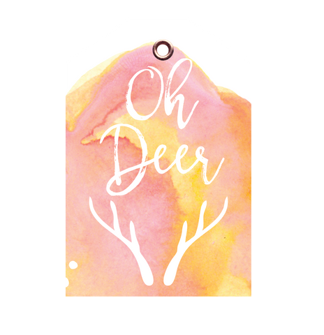 Oh Deer Christmas Tag 5 PACK - Danger & Moon