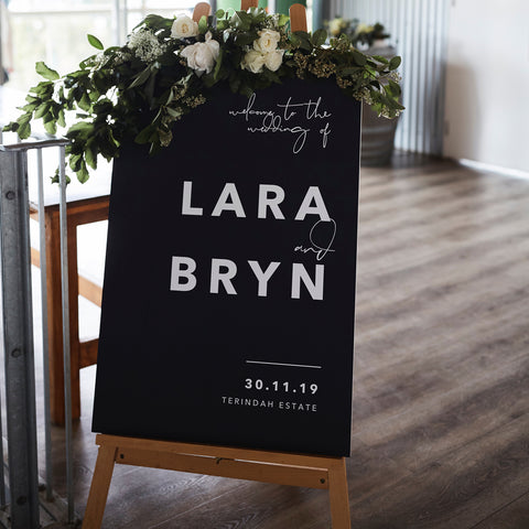 Modern Welcome Sign 60x90cm {customisable}