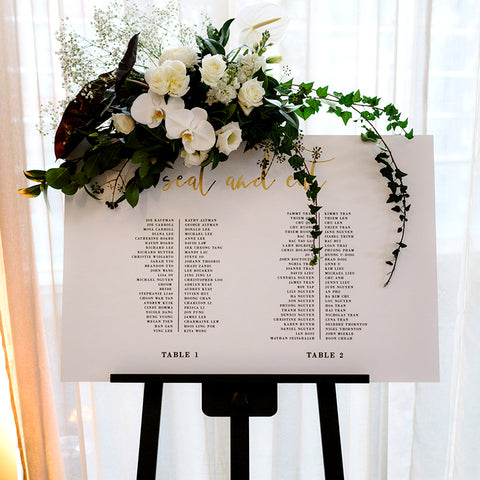 Foil Seating Chart 60x90cm - TABLE LISTING {customisable}