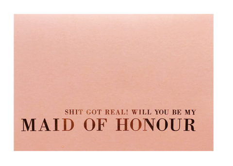 Maid Of Honour Greeting Card