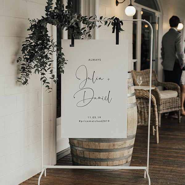 Be Our Seating Chart 60x90cm - TABLE LISTING {customisable}