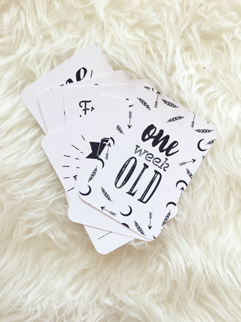 Baby Milestone Cards - Danger & Moon - 5