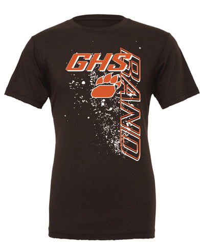 GHS Band Vertical Design T-Shirt (Available in Orange & Brown)