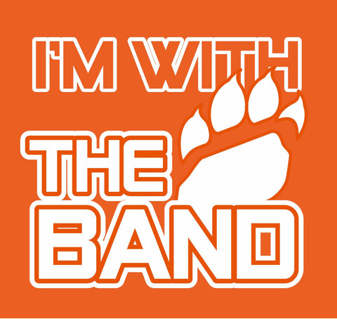 """I'm With The Band"" T-shirt -- UPDATED DESIGNS & NEW COLORS!"