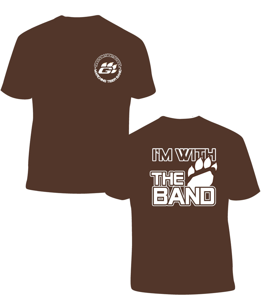 Quot I M With The Band Quot T Shirt In Brown The Grissom High