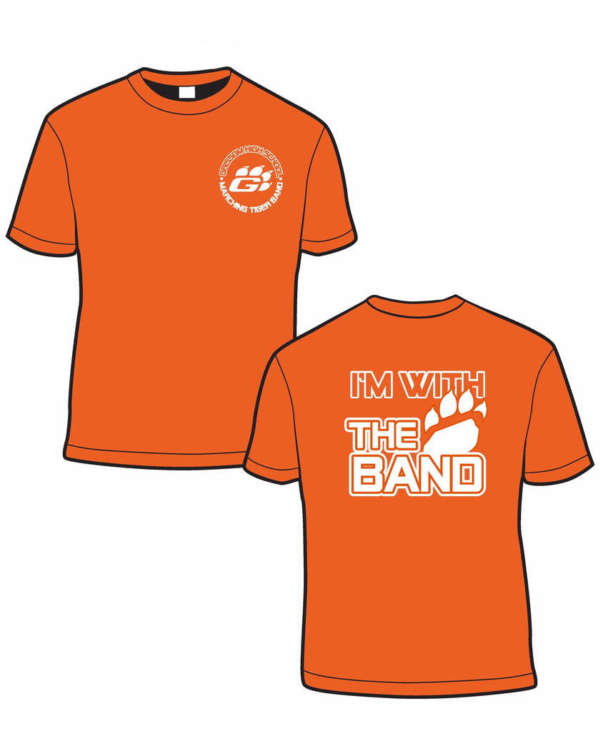 """I'm With The Band"" T-shirt in ORANGE"