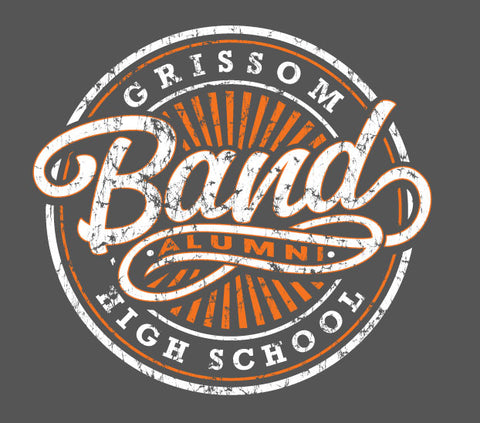 Grissom Band Alumni Pocket T-Shirt (Distressed Grey)