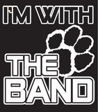 """I'm With The Band"" T-shirt in BLACK"