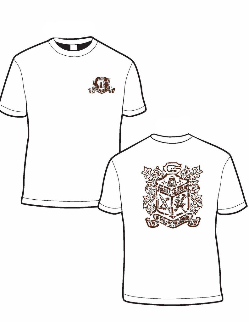 Grissom High School Crest Comfort Color® Pocket T-shirt (Short-Sleeved)