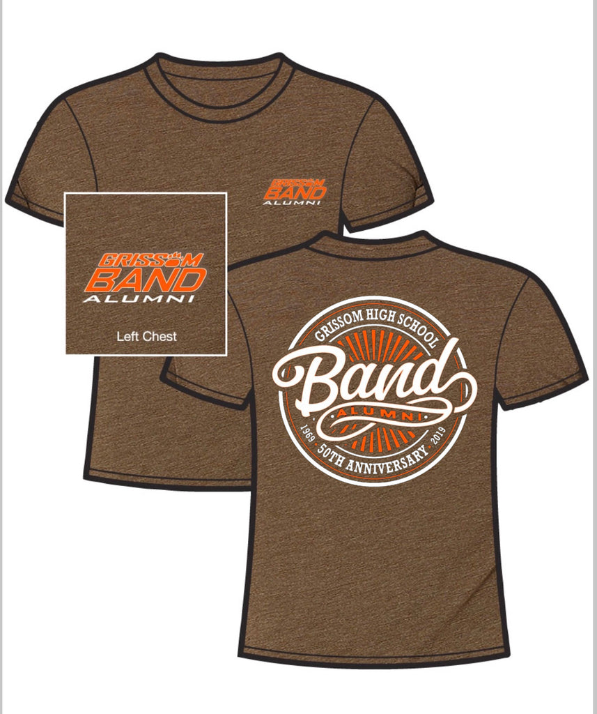 GRISSOM BAND ALUMNI LIMITED EDITION 50TH ANNIVERSARY T-SHIRT