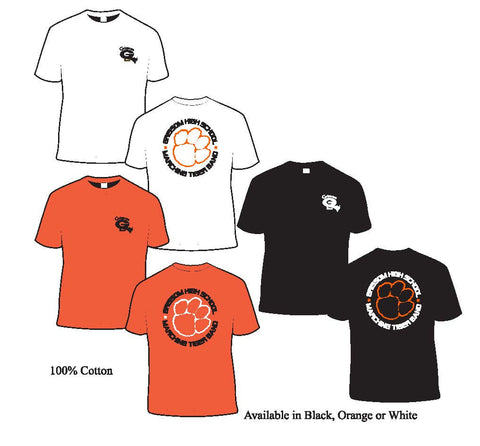 Grissom Band T-shirt with Circled Paw Design