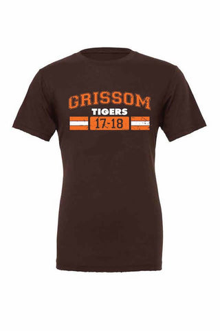 Grissom Tigers Distressed T (17-18)