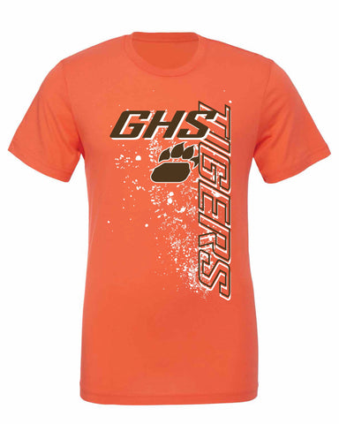 GHS Tigers Vertical Design T-Shirt (Available in Orange & Brown)