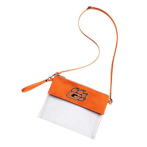 CLEAR STADIUM CROSSBODY BAG (EMBROIDERED)