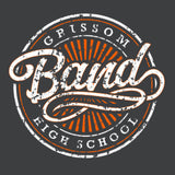 Grissom Band - Circle Hoodie Gray
