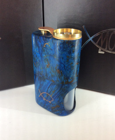Squonk¹ V2.5 Woody - Blue Conker Burr, Brass Cup