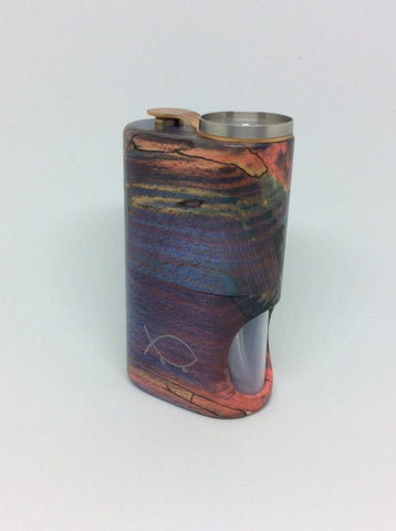 Squonk¹ V2.5 Woody - Red/Blue Spalted Beech, SS Cup
