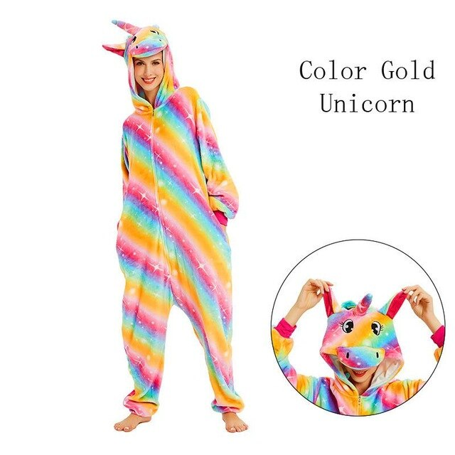 Color Gold Onesies Sleepwear Pajamas