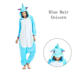 Blue Hair Onesies Sleepwear Pajamas