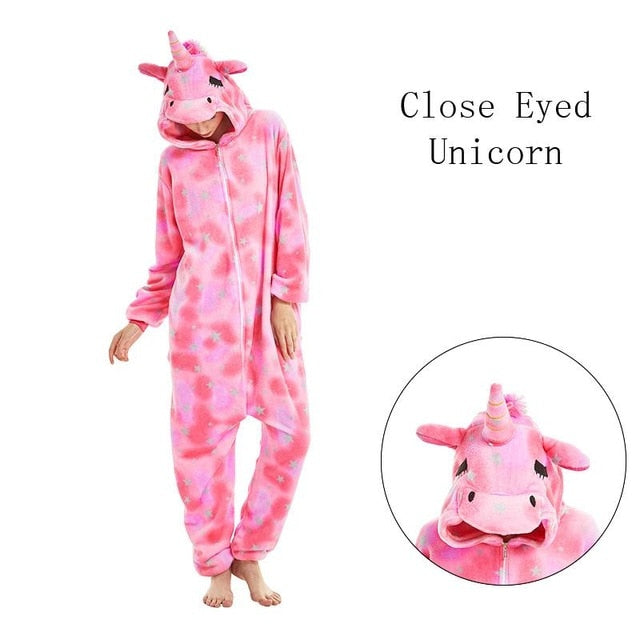 Close Eyed Onesies Sleepwear Pajamas