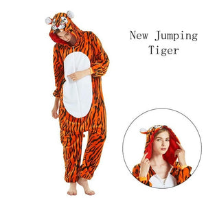 New Jumping Tiger Onesies Sleepwear Pajamas