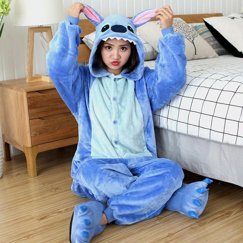 Blue Stitch Onesies Sleepwear Pajamas