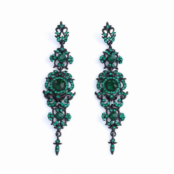 Luxury Crystal Chandelier Long Drop Earrings