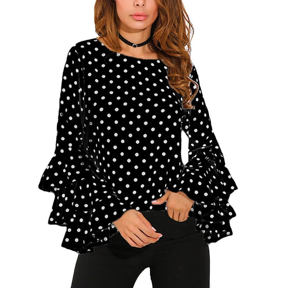 Ruffled Polka Dots Blouse
